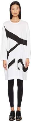 Yohji Yamamoto Y's by M-Rn Big-T Oversize Logo Tee Dress Women's Dress