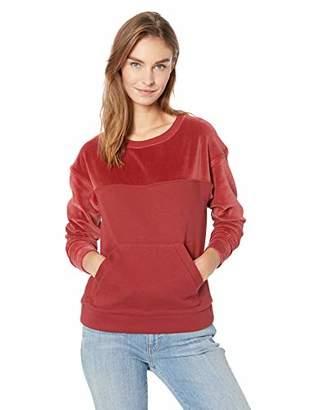 Lacoste Women's Long Sleeve Crewneck Velvet Pique Sweatshirt