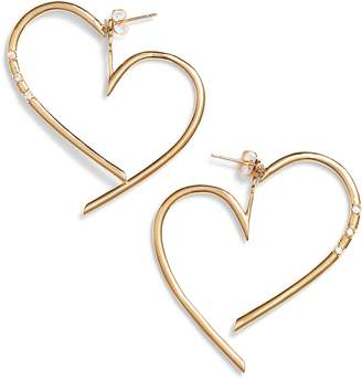 STERLING FOREVER Cadence Heart Ear Jackets