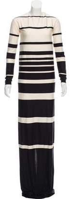 Marc Jacobs Striped Silk Maxi Dress