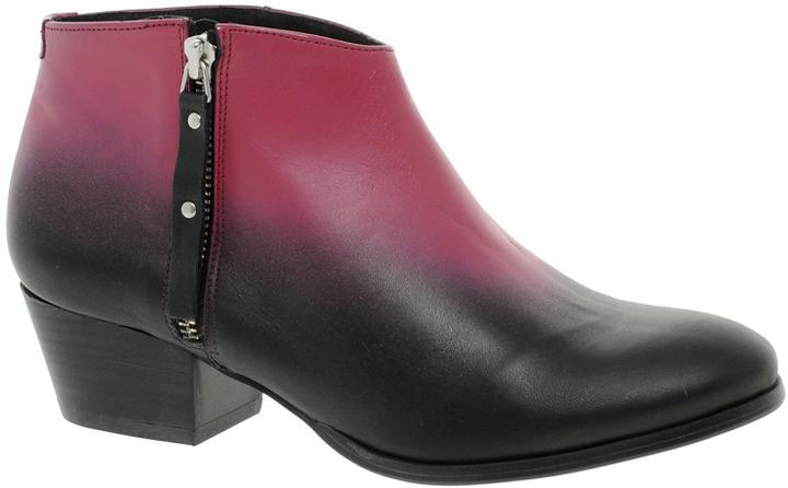 Miista Kia Black Heeled Zip Ankle Boots