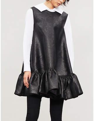 Comme des Garcons Comme Sculpted-collar cotton-poplin shirt