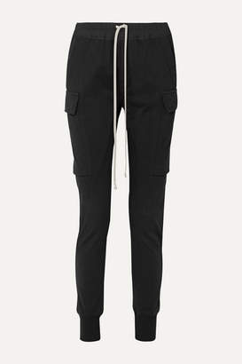 Rick Owens Poplin-trimmed Cotton-jersey Track Pants