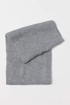 H&M Rib-knit Tube Scarf - Gray