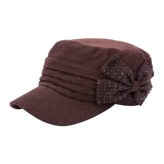 c09c9c7702424 Q Y YQ Women s Winter Wool Military Hats Cadet Caps ...