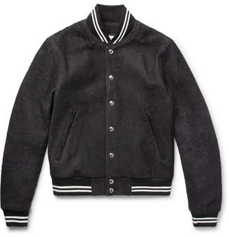 + Blackmeans Distressed Suede Bomber Jacket