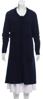 Armani Collezioni Bouclé Long Line Cardigan