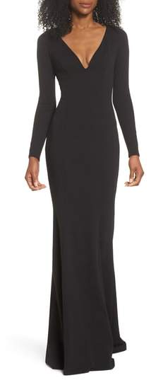 Katie May Back Cutout Trumpet Gown