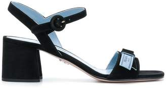 Prada block-heel leather sandals