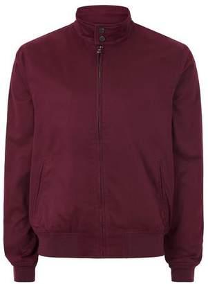 Topman Mens Red Burgundy Harrington Jacket