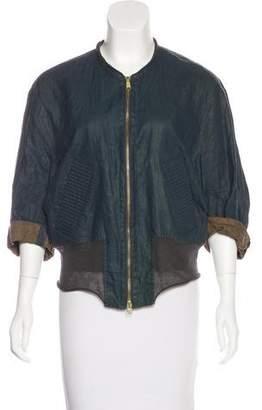 Kolor Linen Zip-Up Jacket