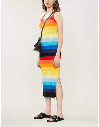 Chinti and Parker Sunset cotton-knitted dress