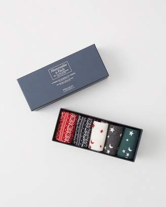 Abercrombie & Fitch 5-Pack Casual Socks Gift Set