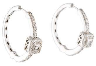 Charriol 18K Diamond Hoop Earrings
