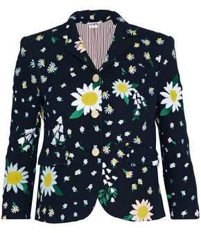 Thom Browne Appliquéd Embroidered Cotton-Tweed Jacket