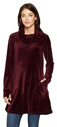 Max Studio Women's Velour Pull Over with Pockets