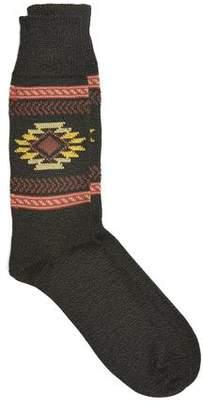 Corgi Navajo Inspired Socks in Seaweed