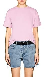 Helmut Lang Women's Distressed Cotton T-Shirt - Pink
