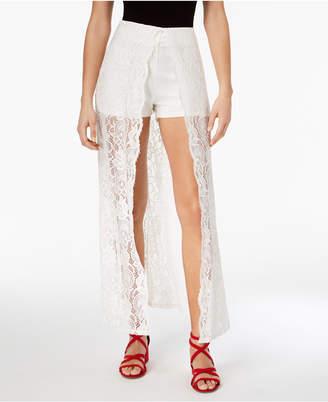 Material Girl Lace Walk-Through Shorts