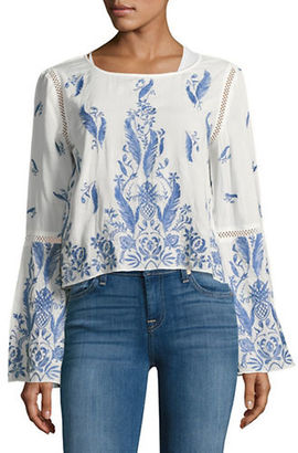 Buffalo David Bitton Embroidered Peasant Top $99 thestylecure.com