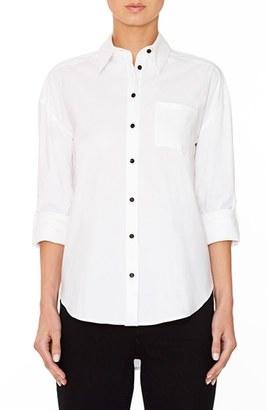 Women's Alice + Olivia 'Brita - Always Right' Embroidered Boyfriend Shirt $265 thestylecure.com