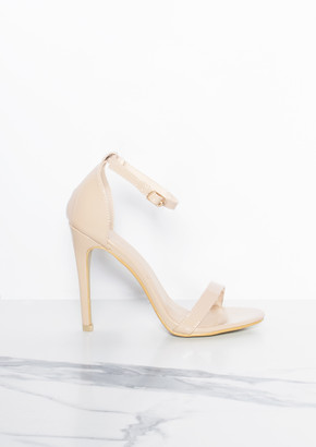 179a77cad24 at Missy Empire · Missy Empire Missyempire Freyja Beige Ankle Strap Heels