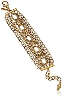 Badgley Mischka Multi-row Chain Bracelet