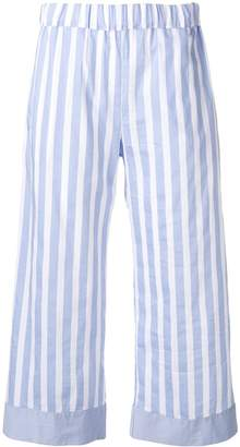 Semi-Couture Semicouture striped cropped trousers