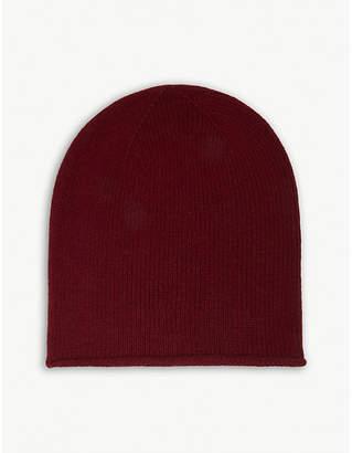 Johnstons Roll trim cashmere hat