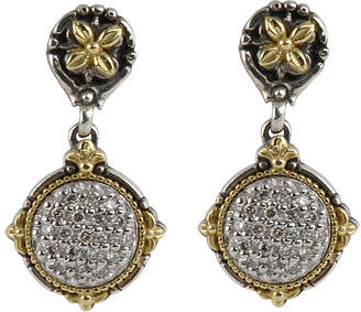 Konstantino Asteri Pave White Diamond Round Double-Drop Earrings