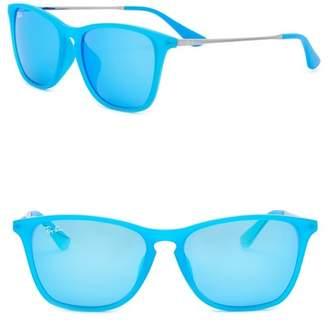 Ray-Ban Blue Rubber 52mm Sunglasses (Little Kids)