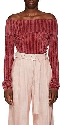 Sies Marjan Women's Daphne Rib-Knit Velour Sweater