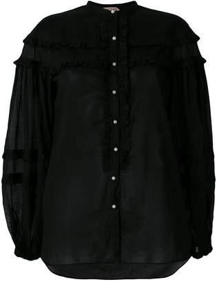 No.21 frill trim blouse