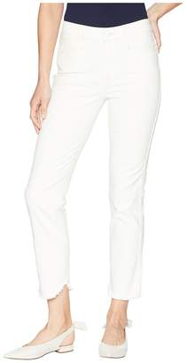 Paige Hoxton Straight Ankle Cream/Pink Women's Jeans