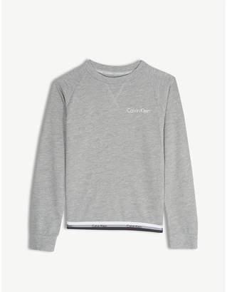 Calvin Klein Tape logo cotton sweatshirt 4-16 years