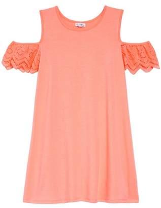 Love, Fire Eyelet Cold Shoulder T-Shirt Dress (Big Girls)