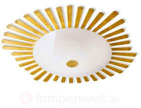 Imposante Deckenleuchte Girasole mit Blattgold