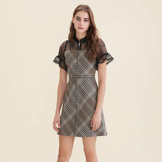 Maje Short dual-material dress