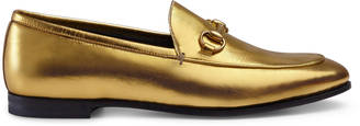 Gucci Jordaan metallic loafer $670 thestylecure.com