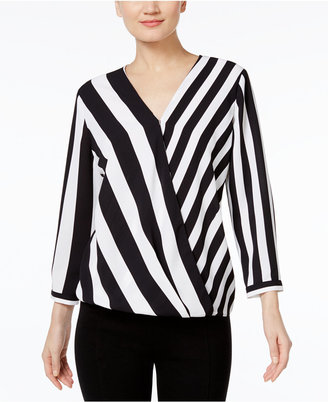 Alfani Striped High-Low Blouse, Only at Macy's $69.50 thestylecure.com