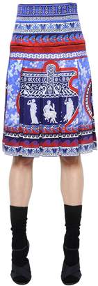 Mary Katrantzou Gheia Pleated Printed Silk Twill Skirt
