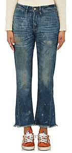 NSF Women's Aero Distressed Crop Flared Jeans - Dk. Blue Size 24