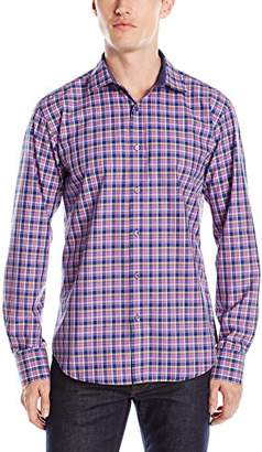 Bugatchi Men's Shadow Plaid Button Down Shirt