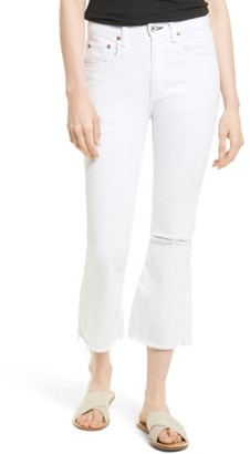 Rag & Bone Women's Marilyn High Waist Crop Flare Jeans