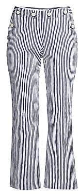 Trina Turk Women's Lyric Theater Striped Cropped Pants - Size 0