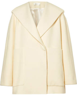 The Row Ernstly Oversized Cotton And Wool-blend Jacket - Cream