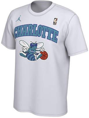 Jordan Men's Charlotte Hornets Hardwood Classics Logo T-Shirt