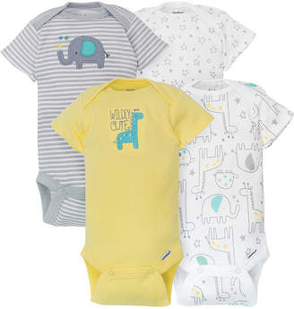 Gerber 4-pc. Bodysuit Set-Baby Unisex