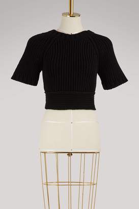 RED Valentino Open-back cropped knit sweater