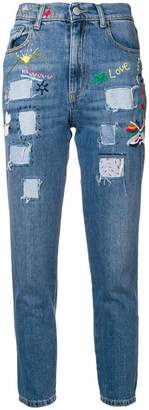 History Repeats patchwork skinny jeans